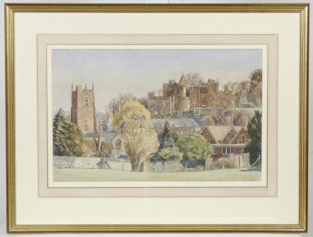 Dunster Castle and Church, Dunster Castle, Somerset in April
