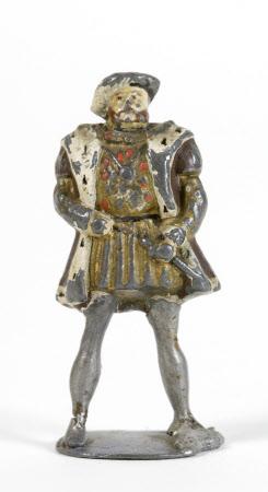 Small lead figure of King Henry VIII (1491-1547)