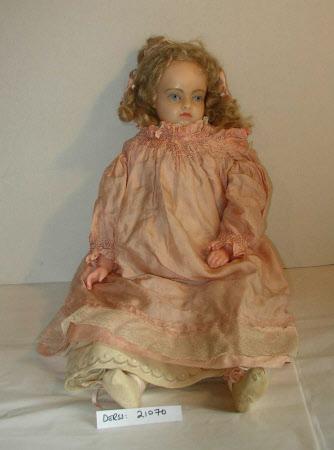 Wax shoulder-head doll