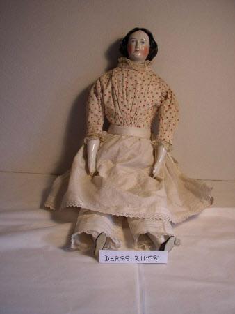 Glazed china-headed doll