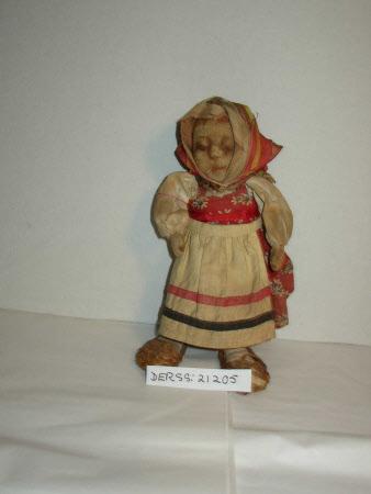 Stockinette-headed doll