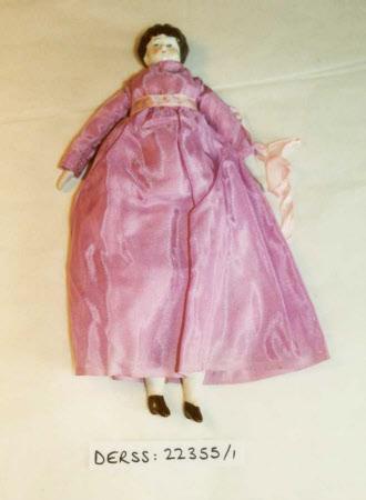 Porcelain shoulder-head doll