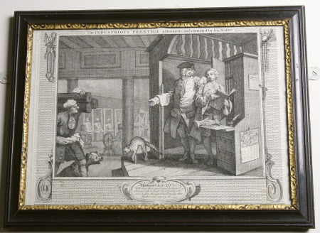 Industry and Idleness - Plate 4. The Industrious 'Prentice a Favourite and entrusted by his Master