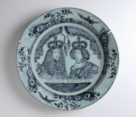 King William III (William of Orange) (1650–1702) and Queen Mary II (1662-1694)