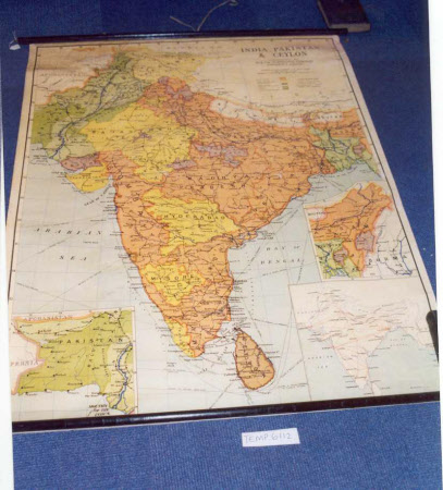 Map of Pakistan and Ceylon