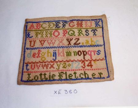 Sampler, Alphabets