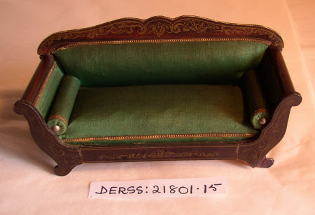 Doll's house sofa