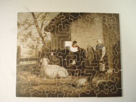 Jigsaw puzzle, The milkmaid, with original box