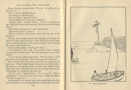 Swallows & Amazons, by Arthur Ransome Illustrated by the author with help from Miss Nancy Blackett.
