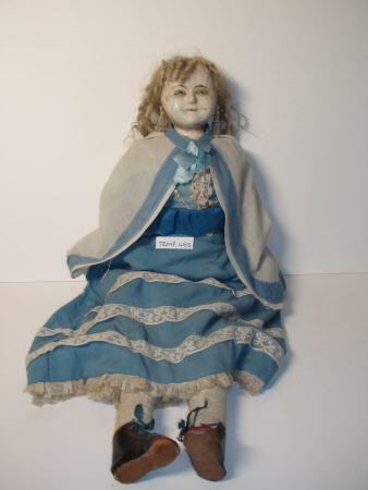 Wax-headed doll