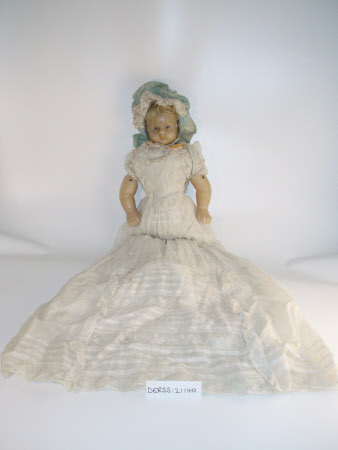 Wax shoulder-head doll