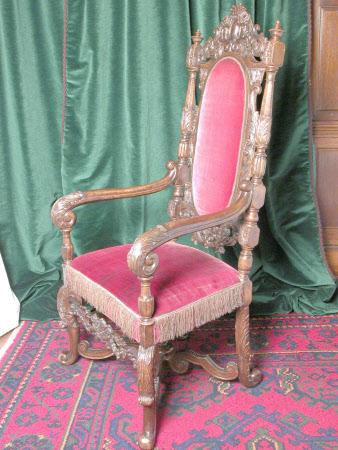 A set of four walnut high-back chairs, Dutch, circa 1870