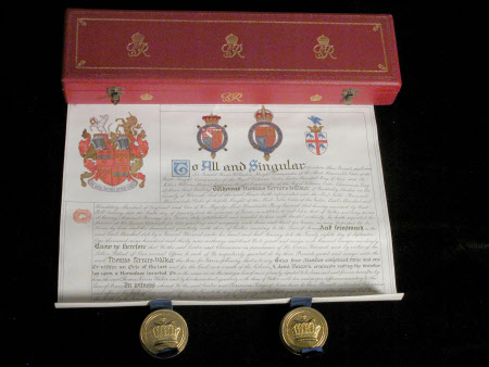 Grant of arms - Thomas Ferrers (formerly Walker) (1887-1970 )