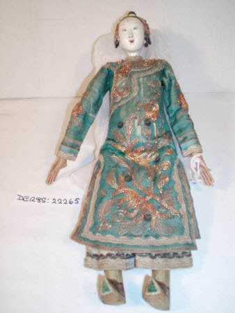 Wooden-headed doll