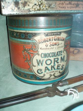 Worm cakes tin