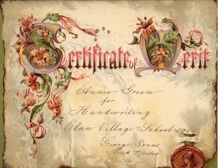 Examination certificate