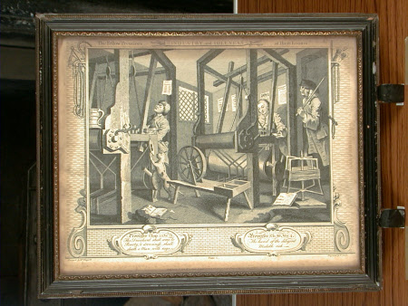 Industry and Idleness - Plate 1. The Fellow 'Prentices at their Looms