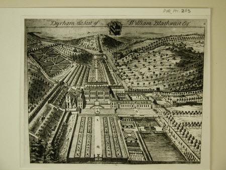 Engraving of Dyrham Park Gloucestershire by Johannes Kip