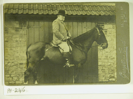 Captain George William Wynter Blathwayt (1824-1899) on horseback
