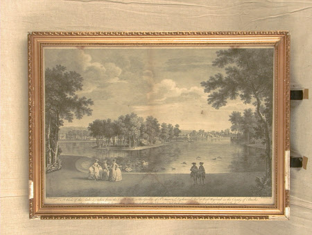 A View of the Lake &c. taken from the Center Walk in the Garden of Sr. Francis Dashwood Bart. at ...