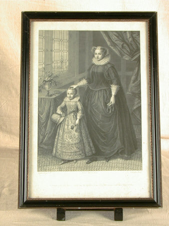 Mary, Queen of Scots (1542–1587) with her son the future King James I (James VI of Scotland) ...