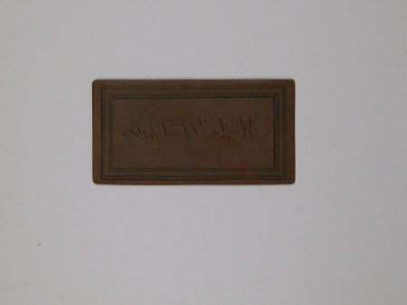 Visiting card plate