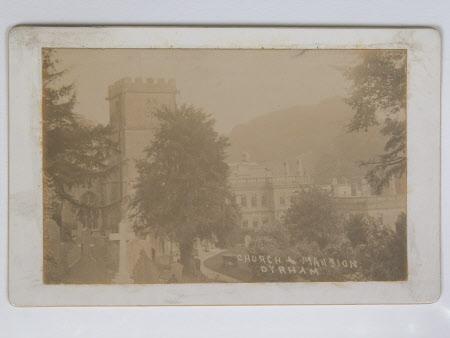 View of , Parish church of St Peter, Dyrham, Gloucestershire 1910 and, Dyrham Park, Gloucestershire