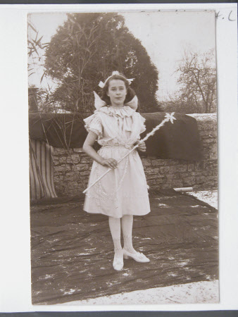 Village school child dressed in costumes, Dyrham School, Gloucestershire