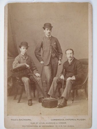 The Reverend Wynter Edward Blathwayt (1859-1929) with two other men