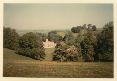 Dyrham Park, Gloucestershire from the south east in high summer, 1963