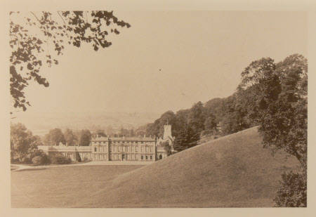 View from first turn in the drive of the east front, Dyrham Park, Gloucestershire
