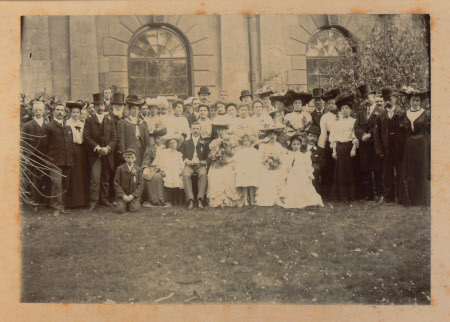 The wedding of Wallace Rumney and Annie Gerry - staff Dyrham Park, Goucestershire