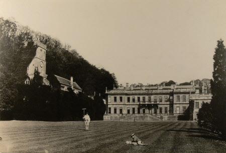 West front, Dyrham Park, Gloucestershire 1875 (copy)