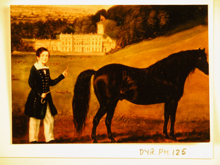 Painting: Boy with Horse, Dyrham Park, Gloucestershire