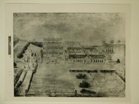 Ariel drawing of Dyrham Park