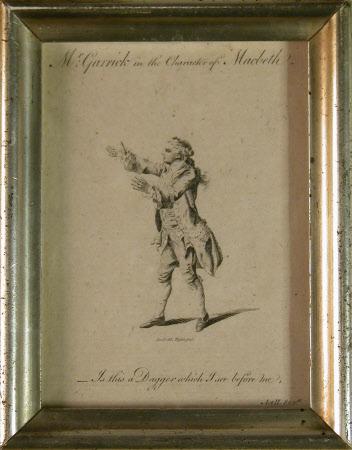 David Garrick (1717-1779) as 'Macbeth' in William Shakespeare's 'Macbeth' (after Daniel Dodd)