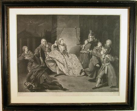 David Garrick (1717-1779) as 'Sir John Brute' in 'The Provoked Wife' by Sir John Vanburgh (after ...