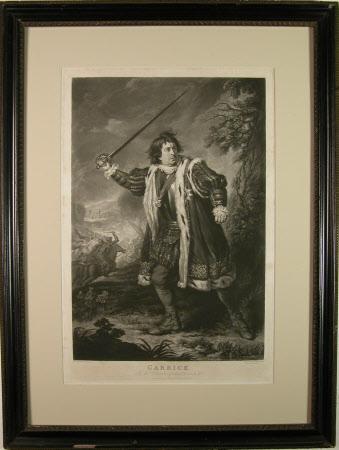 David Garrick (1717-1779) as 'Richard III' in 'Richard III' by William Shakespeare (after Sir ...