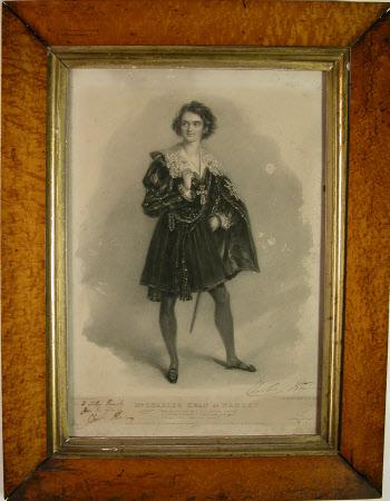 Charles John Kean (1811–1868) as 'Hamlet' in Willliam Shakespeare's 'Hamlet' (after Alfred Edward ...