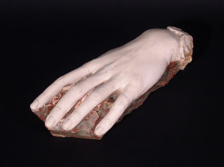 Plaster-cast of the left hand of Eleonora Duse (1858-1924)