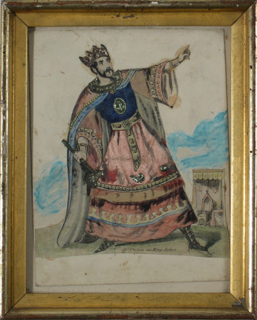 Samuel Phelps (1804-1878) as 'King John' in William Shakespeare's 'King John'