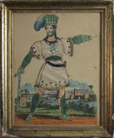 Mr. Heslop as 'Sir Avelon de Beriot' in 'Kehama the Sarcen or The Knights of St John and the Banner ...