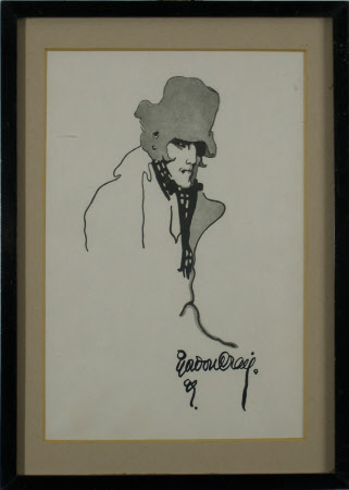 Sir Henry Irving (1838-1905) as 'Dubosc' in 'The Lyons Mail' by Charles Reade