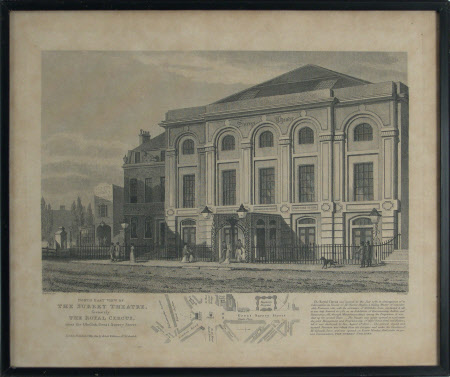 North East View of The Surrey Theatre, formerly The Royal Circus, near the Obelisk, Great Surrey ...