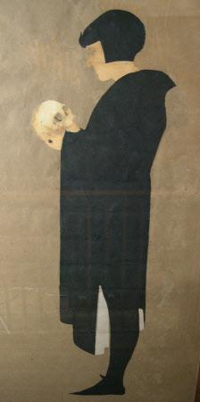 Edward Gordon Craig (1866-1972) as 'Hamlet' in William Shakespeare's 'Hamlet'