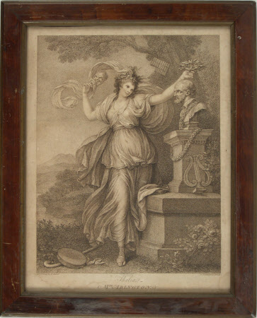 Frances Barton, Mrs Abington (1737-1815) as Thalia (after Richard Cosway RA)
