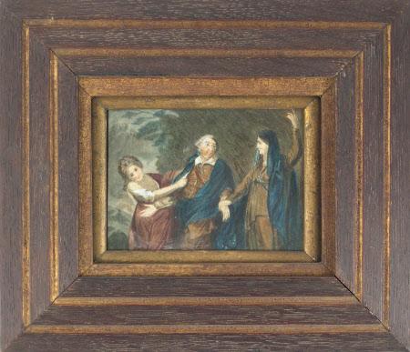 David Garrick (1716-1779) between 'Tragedy' and 'Comedy' (after Sir Joshua Reynolds)