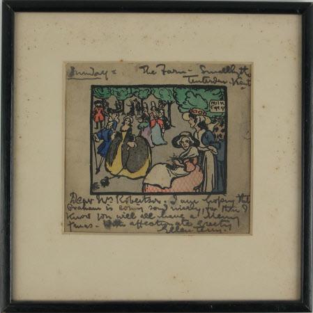 Figures Parading before Dame Ellen Terry (1847-1928)