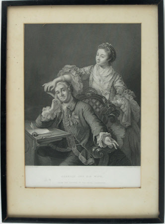 David Garrick (1717-1779) and his wife Eva Maria Veigel (1742-1822) (after William Hogarth)