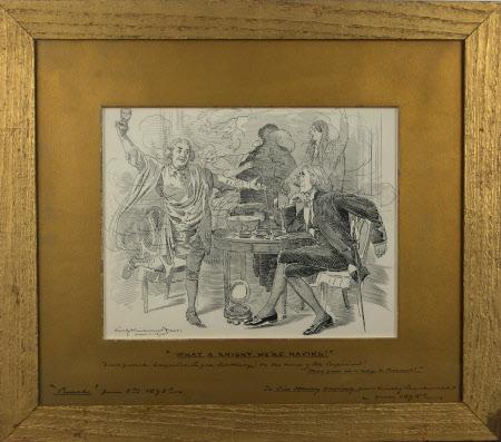 'Whay a Knight We're Having' : David Garrick (1717-1779) congratulating Sir Henry Irving ...
